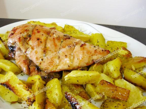 خوراک هایی با مرغ - Toster